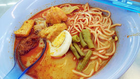 A bowl of Curry Mee Royalty Free Stock Photos