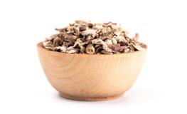 Bowl of Dandelion Root an Alternative Medicine. A Bowl of Dandelion Root an Alternative Medicine stock image
