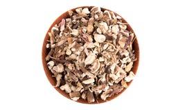 Bowl of Dandelion Root an Alternative Medicine. A Bowl of Dandelion Root an Alternative Medicine royalty free stock image