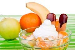 Bowl of delicious fresh fruit Stock Image