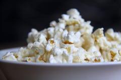 Bowl of delicious popcorn closeup royalty free stock photos