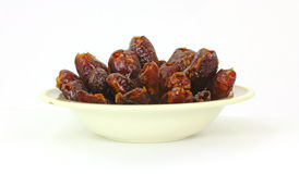 Bowl Delicious Pitted Dates Stock Photo