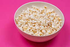 Bowl of Delicious Popcorn Stock Images