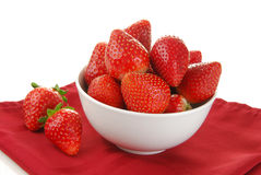 Bowl of delicious strawberries Stock Photos