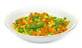 Bowl of diced vegetables Royalty Free Stock Photography