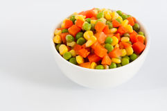 Bowl of Diced Vegetables Royalty Free Stock Photo