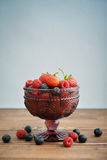 Bowl of different fresh berries Royalty Free Stock Photos