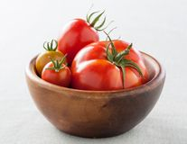 Bowl with different tomatoes Royalty Free Stock Photos