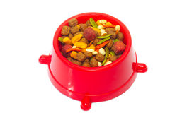 Bowl of Dog Food Royalty Free Stock Image