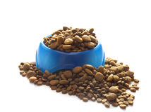 Bowl of dog food for animals Royalty Free Stock Images