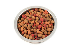 Bowl of dogfood Royalty Free Stock Photography