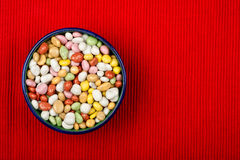 Bowl of dragee Royalty Free Stock Images