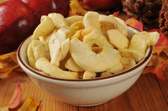 Bowl of dried apple slices Stock Photo