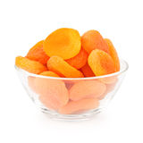 Bowl Of Dried Apricots royalty free stock images