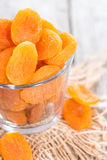 Bowl with dried Apricots Royalty Free Stock Image