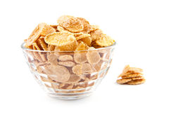Bowl of dried cornflakes Stock Photography