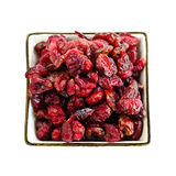 Bowl of dried cranberries Stock Photo
