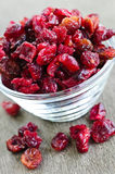 Bowl of dried cranberries Royalty Free Stock Photos