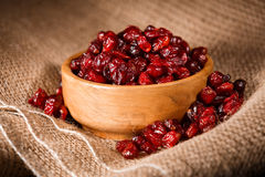 A bowl of dried cranberries Royalty Free Stock Images