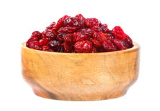 A bowl of dried cranberries Stock Photo