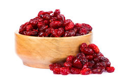 A bowl of dried cranberries Stock Photos