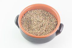 Bowl of dried lentils Stock Photos