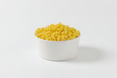 Bowl of dried macaroni Stock Images
