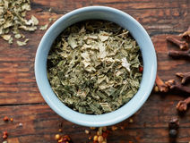 Bowl of dried oregano Royalty Free Stock Photo
