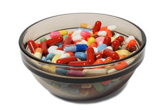 Bowl with drugs Royalty Free Stock Photo