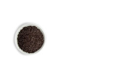 Bowl of Dutch Chocolate Sprinkles Stock Photography