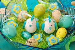 Bowl with easter decoration Royalty Free Stock Photo