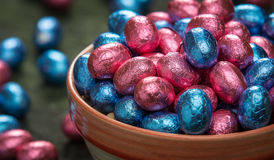 Bowl of easter eggs Stock Photo