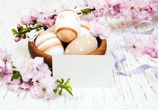 Bowl with easter eggs Royalty Free Stock Photo