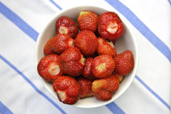 Bowl of ecological strawberries Royalty Free Stock Photos