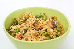 Bowl Egg Fried Rice Stock Photo