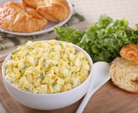 Bowl of Egg Salad. Egg salad in a bowl for making sandwiches Royalty Free Stock Photo