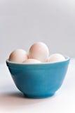 Bowl Eggs Stock Photo
