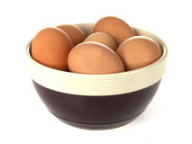Bowl of Eggs Royalty Free Stock Photography