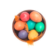 Bowl of eggs from above Royalty Free Stock Images