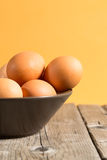 Bowl with eggs Royalty Free Stock Image