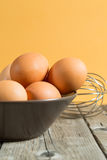 Bowl with eggs Royalty Free Stock Photos
