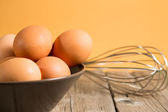 Bowl with eggs Royalty Free Stock Photography