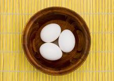 A bowl of eggs Stock Photos