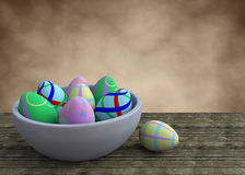 Bowl with ester eggs Royalty Free Stock Image
