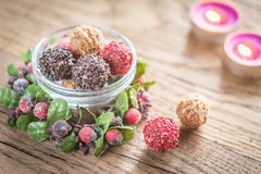 Bowl of exclusive truffles Royalty Free Stock Images