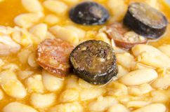 Bowl of fabada Stock Image
