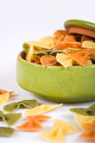 Bowl with farfalle pasta Stock Image