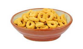 Bowl Fennel Flavored Snack Rings Royalty Free Stock Photos
