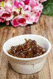 Bowl of fig jam Stock Photo