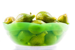 Bowl of figs Stock Images